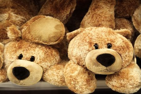 plushy: Pile of teddy bears toys Stock Photo