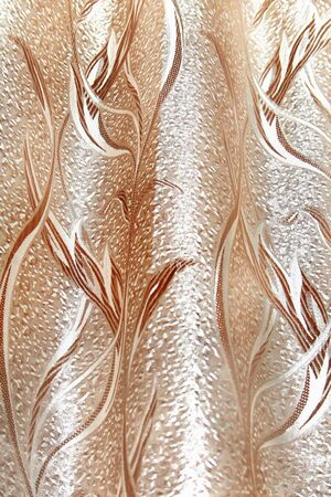 fabric textures: Close-up of curtain pattern