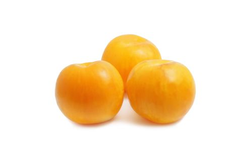 Plums isolated over white background photo