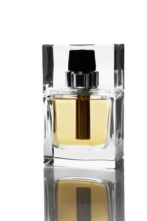 gauzy: Perfume bottle isolated on white