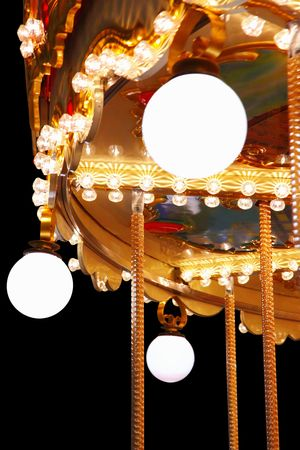 Carousel at night photo