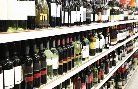 Bottle of wine in a wine store Stock Photo - 6624360