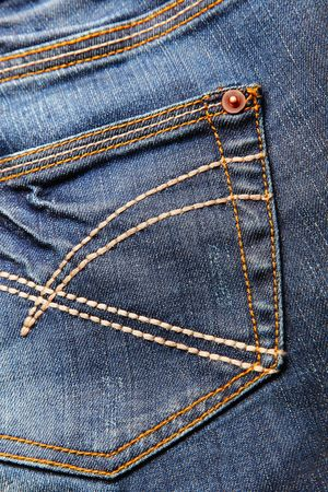 back cloth: Close-up of blue jeans