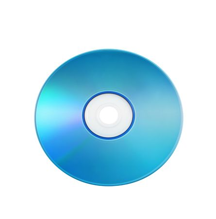 CD isolated over white background photo