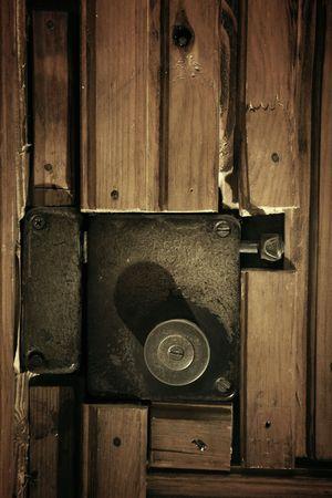 Old door lock photo