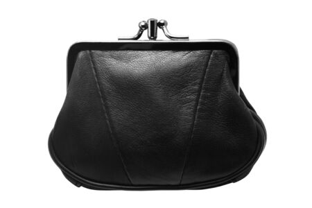 change purse: Purse isolated over white background