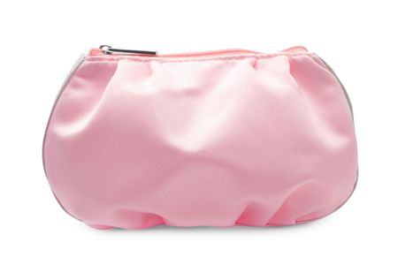 Cosmetic bag isolated on a white background photo