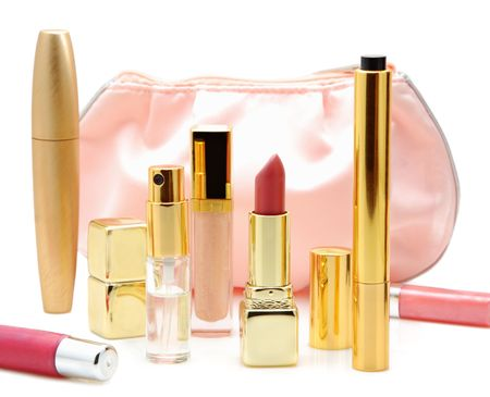 Cosmetics isolated on a white background photo