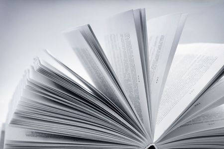 Close-up of open book photo