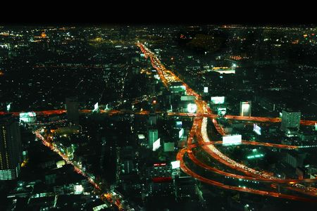 Bangkok at night Stock Photo - 6625055