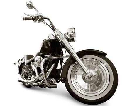 Motorrad auf weißen Hintergrund isoliert Standard-Bild - 6671936