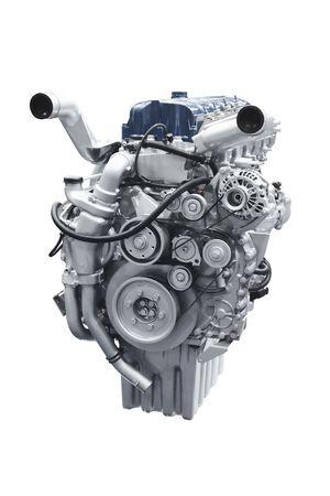 Car engine isolated over white background photo