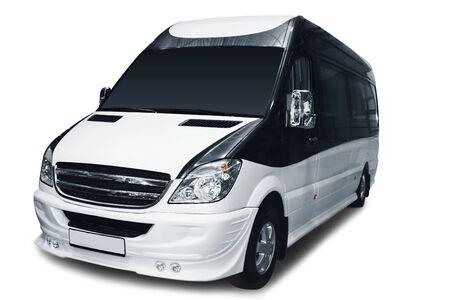 Minivan isolated over white background photo