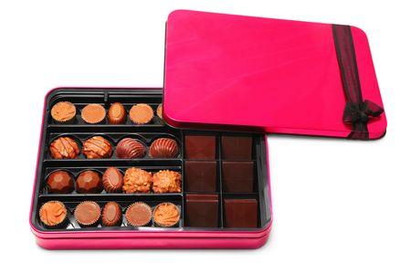 objetos cuadrados: Cuadro de chocolate aislado en blanco
