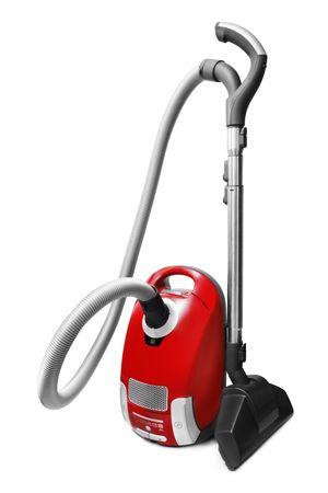 carpet wash: Vacuum cleaner isolated on white Stock Photo