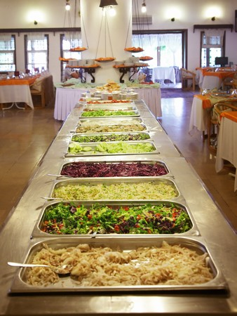 food buffet: Buffet trays at the hotel
