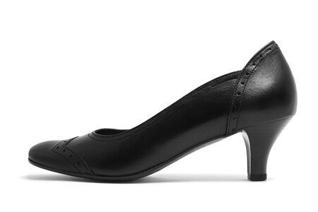 Black shoe isolated on white Stock Photo - 7235876