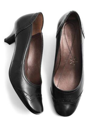 Black shoes isolated on white Stock Photo - 7235890