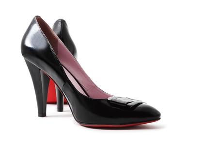 Black shoes isolated on white Stock Photo - 7235865