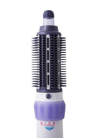 styler: Hair dryer isolated on white Stock Photo