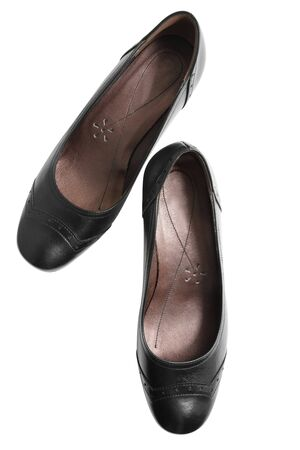 Black shoes isolated on white Stock Photo - 7380845