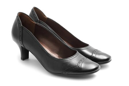 Black shoes isolated on white Stock Photo - 7380875