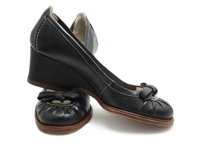 Black shoes isolated on white Stock Photo - 7380873