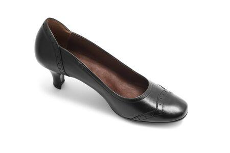 Black shoe isolated on white Stock Photo - 7821204