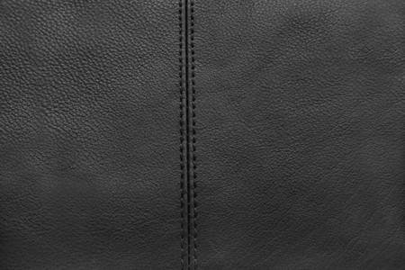 Close-up of black leather texture Stock Photo - 8023870