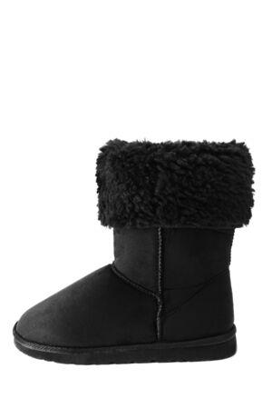 sheepskin: Sheepskin boot isolated on white
