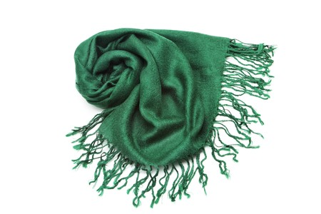 Scarf isolated on white photo