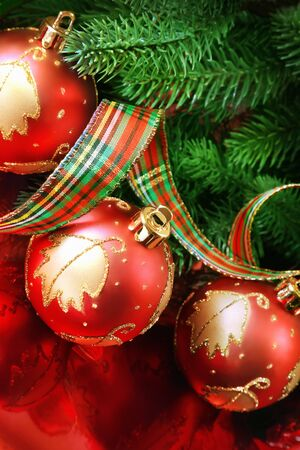 Close up of christmas balls Stock Photo - 8254596