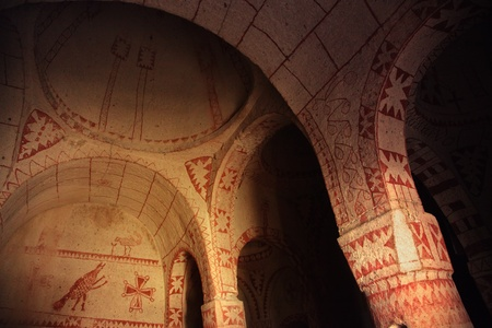 fresco: Fresco in the ancient church. Cappadocia, Turkey