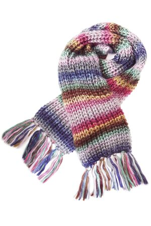 tog: Wool scarf isolated on white