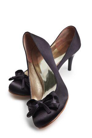 Black shoes isolated on white photo