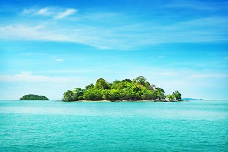 Île tropicale Banque d'images