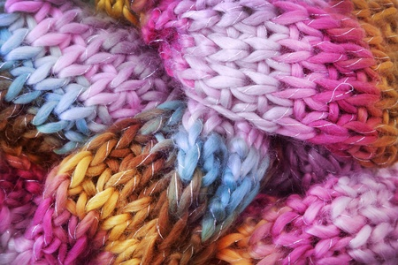 knitted: Wool scarf