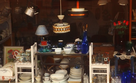 furniture store: in a retail shop display
