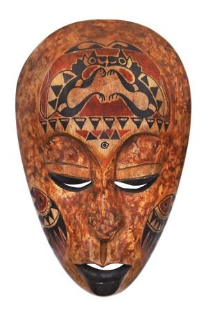 tribu: Máscara africana aislada en blanco Foto de archivo