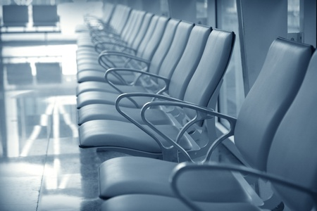 waiting area: Airport waiting area with chairs Stock Photo