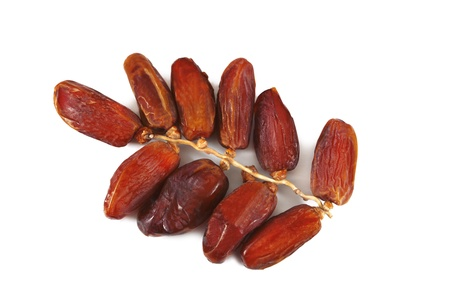 Date fruits on white background Stock Photo