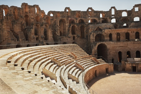 unesco: Amphitheater in El Jem, Tunisia