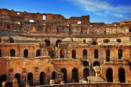 Amphitheater in El Jem, Tunisia Stock Photo - 11173280