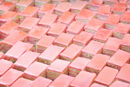 pink cake: Close-up of pink cakes Stock Photo