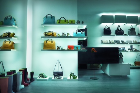 Shop window with bags and shoes Stock Photo - 11260058