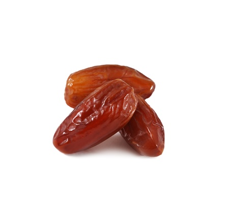 Date fruits on white background photo