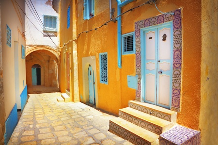 A narrow street in Sousse, Tunisia