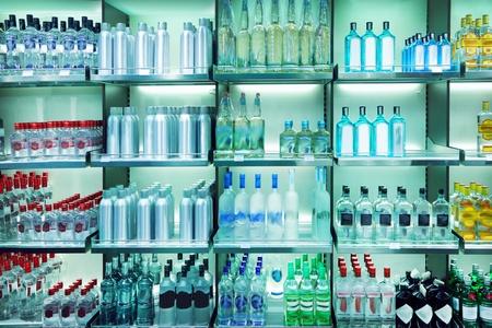 white shelf: Wine shop