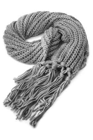 tog: Wool scarf on white background Stock Photo
