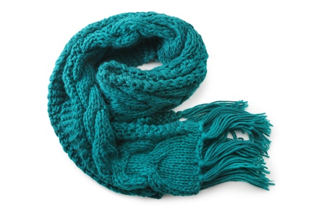 Wool scarf on white background photo